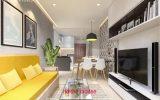 Thiết kế nội thất cho căn hộ diện tích nhỏ vô cùng hiện đại