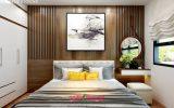 Chất liệu gỗ công nghiệp cao cấp mang đến vẻ đẹp hiện đại cho căn hô chung cư